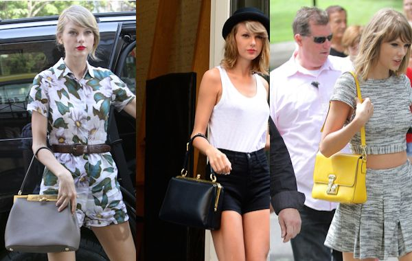 ... out with Dolce   Gabbana. Love her or hate her Taylor swift has a  quirky taste when it comes to handbags. She seems to love them all from big  to smell. d003aff7b14a3